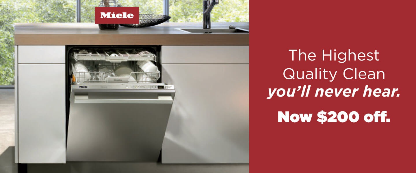 $200 Off Applicable Miele Dishwashers
